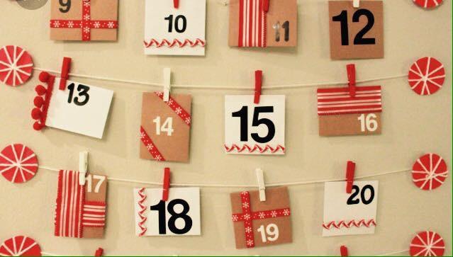 Calendario dell'avvento homemade